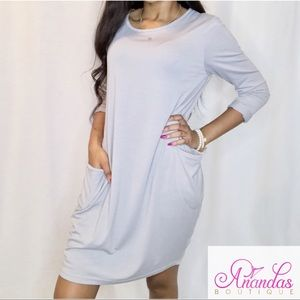 Loose dress with pockets
